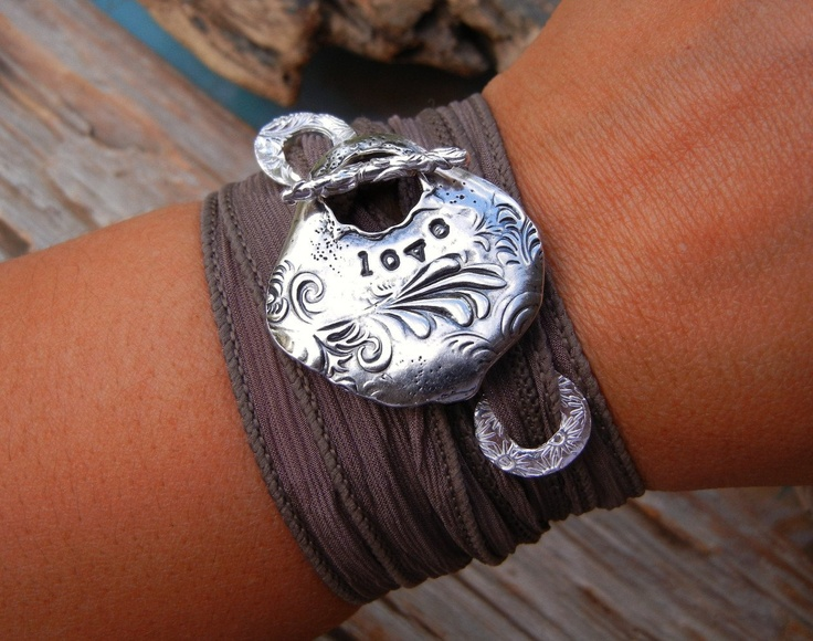 bohemian fashion and jewlery | Boho Chic Wrap Bracelet, Bohemian Style Jewelry, Hand Made STERLING ...