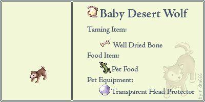 Baby Desert Wolf Pet