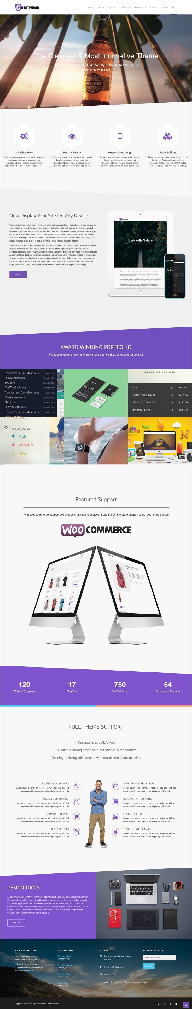 Creatividad is a wonderful responsive #WordPress theme for stunning #agencies websites with 7+ multipurpose homepage layouts download now➩ https://themeforest.net/item/creatividad/14366355?ref=Datasata