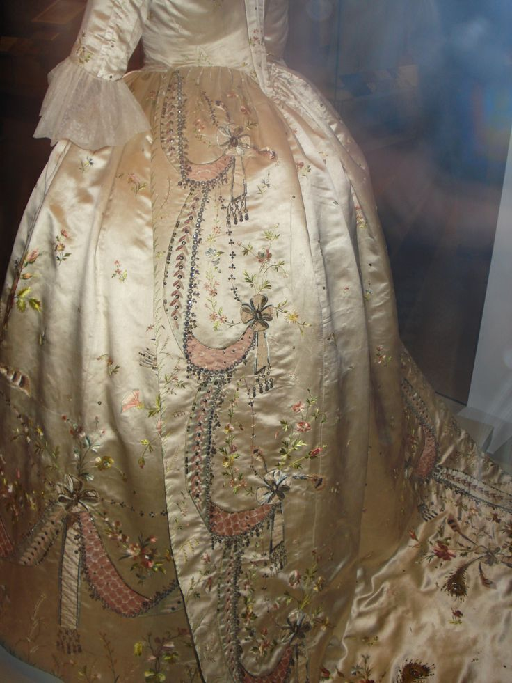 Skirt of Court Dress & Train said to have been made for Marie Antoinette by Rose Bertin.