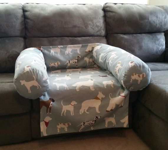Pet Bed for Couch in Buyer's Fabric by PillowPopsDecor on Etsy