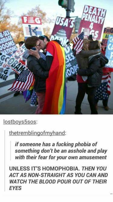 Because homophobia is not a real phobia. If you are actually scared of homosexual people, you should probably see somebody.