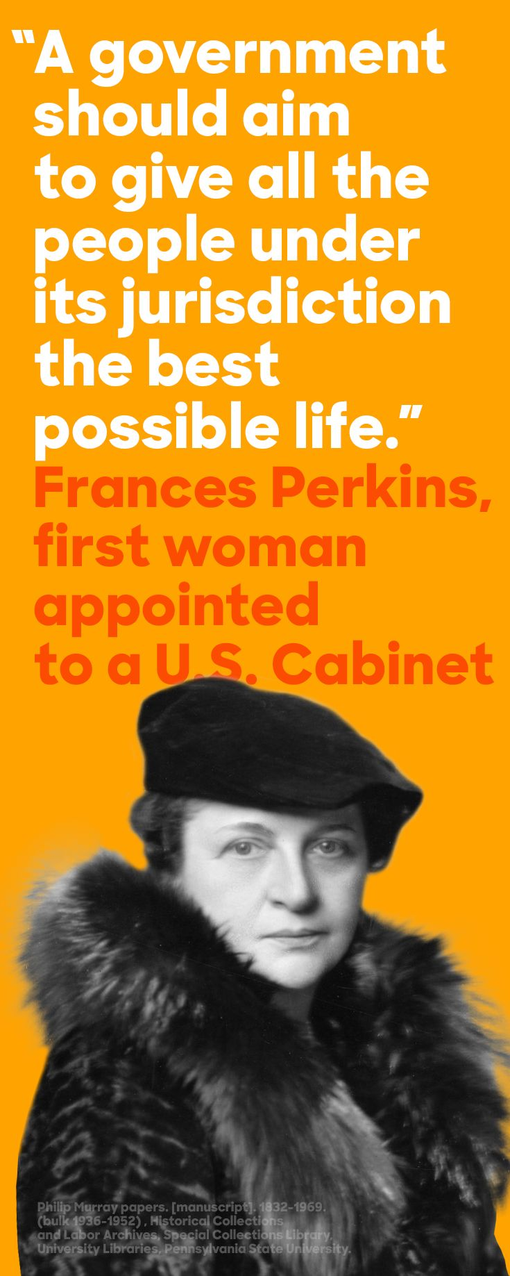 On March 4, 1933, the U.S. Senate confirmed Frances Perkins as Secretary of Labor, making her the first woman cabinet member. With President Franklin Delano Roosevelt, Secretary Perkins crafted the blueprint for the New Deal and the Fair Labor Standards Act, which abolished child labor. #WomensHistoryMonth