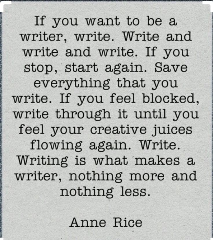 Screenwriting inspiration - writing is what makes a writer, nothing more and nothing less.