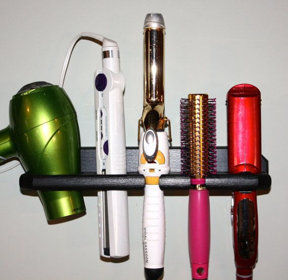 Hair Dryer Curling Iron Organizer Part - 30: Hair Blow Dryer Curling Iron Brush 1 1/2 Inch By Northwoodscrafts, $24.95