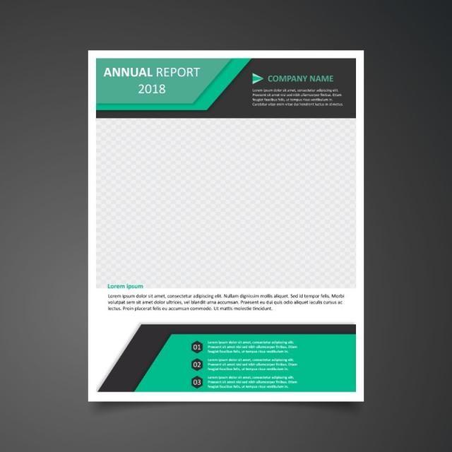 التقرير السنوي الاخضر Brochure Design Template Brochure Template Layout Annual Report