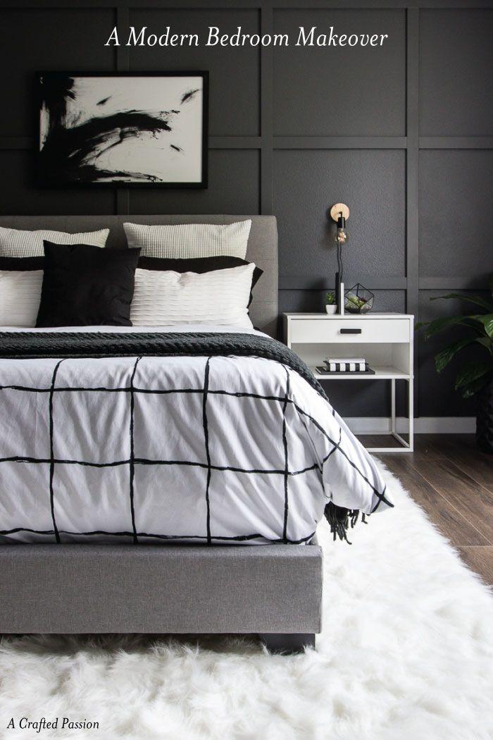 a monochrome modern bedroom reveal monochrome master bedroom and rh pinterest com