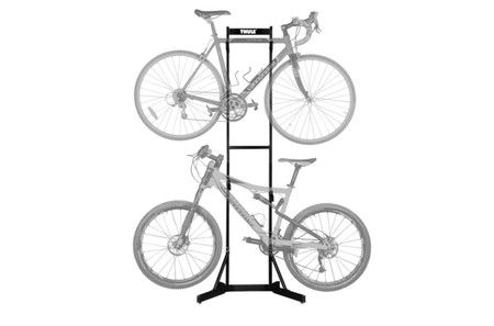 Thule Bike stacker BST2K2  Freestanding, arms adjust independently to any height.  84H X 31W x 21D