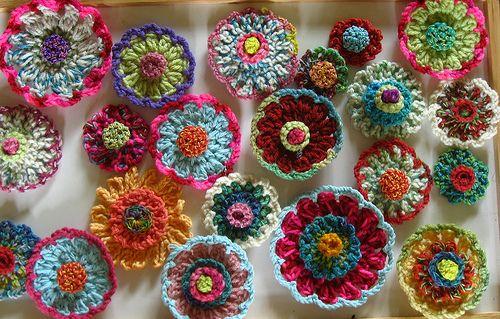 more flowers: Crochet Flower, Photo Shared