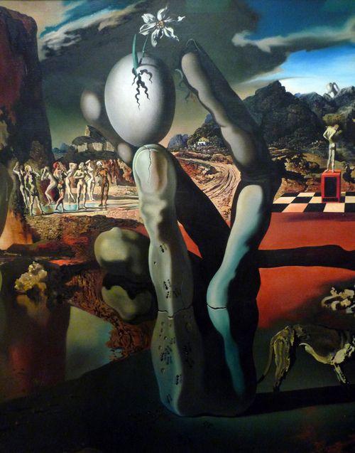 Salvador Dalí, Metamorphosis of Narcissus (detail), 1937