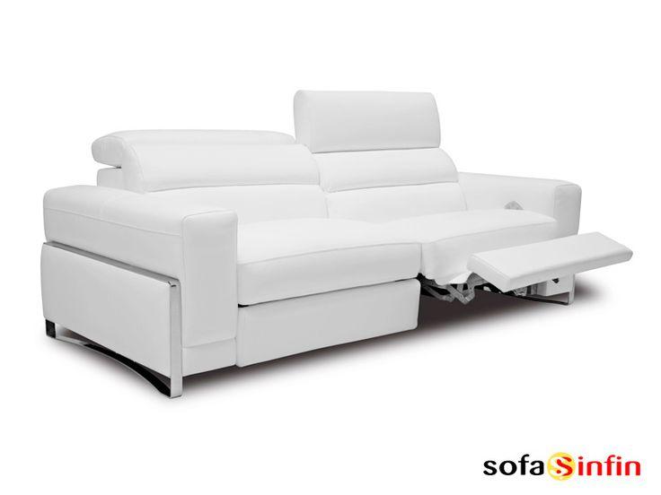 Sofá relax de 3 y 2 plazas modelo Tiara fabricado por Losbu en Sofassinfin.es