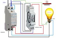 Electrical diagrams: contactor with timer