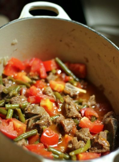 Slow-Roasted Turkish Lamb Stew with Green Beans