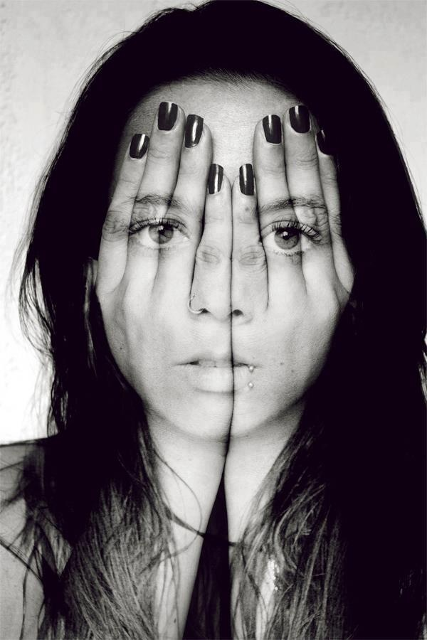 : Idea, Double Exposure, Faces, Black White Photography, Self Portraits, Art Photography, A Tattoo, Eye Art, Covers Up