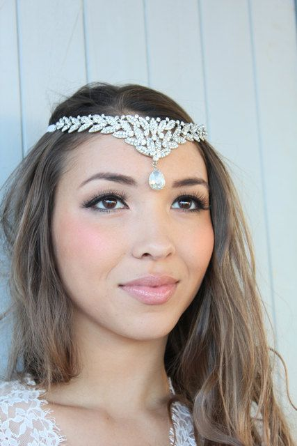sebella beaded rhinestone headpiece wedding headpiece tiara bohemian headpiece rhinestone headband