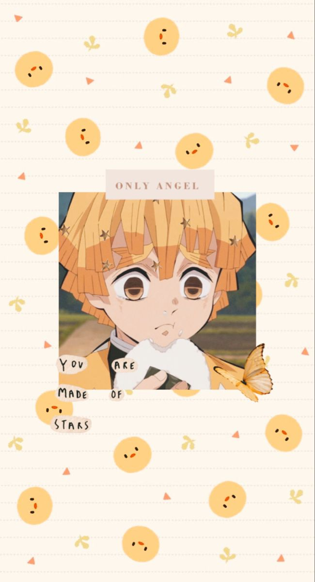 Zenitsu Kimetsunoyaiba Yellow Aesthetic Anime Wallpaper Lockscreen Seni Anime Seni
