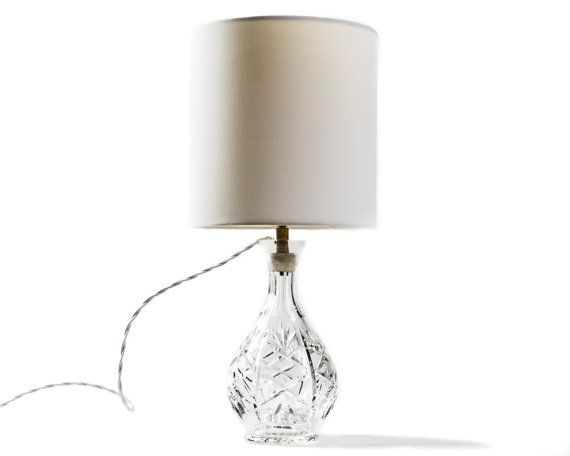 Vintage Crystal Lamp by TygerDesign on Etsy