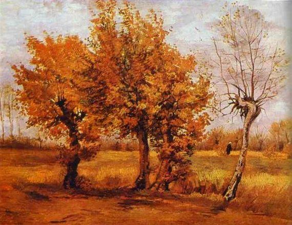 Vincent van Gogh, Autumn Landscape with Four Trees 1885