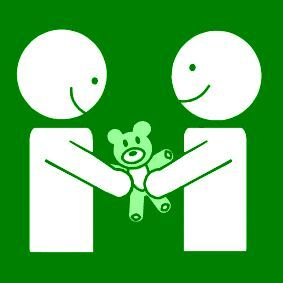 Pictogram: share toys green