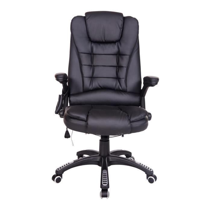 Fauteuille De Bureau Fauteuil De Bureau Cuir Noir Massant Et Chauffant Achat Vente Chair Furniture Decor