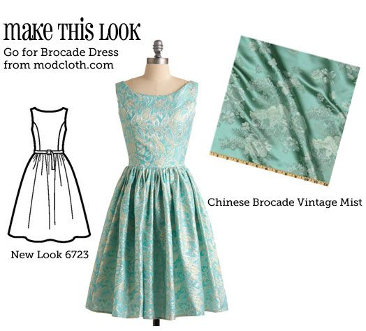 (via Make This Look: Go for Brocade Dress - The Sew Weekly Sewing Blog &…