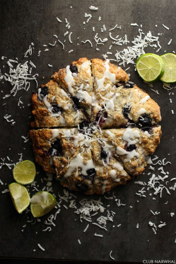 SKINNY BLUEBERRY LIME SCONES