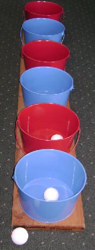 Toss Carnival Game. Just red buckets though :)