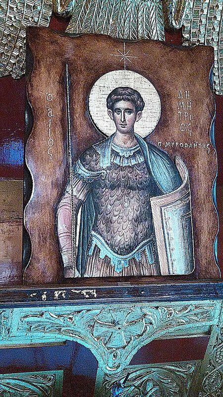 Saint Dimitrios, from Saint Dimitrios Church, Thessaloniki, Greece