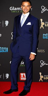 Guy Sebastian in a Navy suit - OMG too die for! Sooooo handsome and oh so Stylish!Love Love Love
