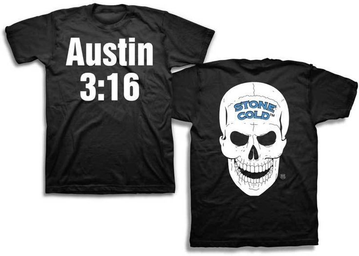 Stone Cold Steve Austin 3:16 Skull WWE Mens Black Original Design T-Shirt    eBay