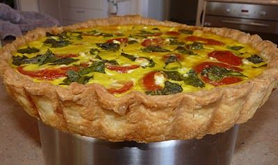 The Bush Gourmand: Maggie Beer's Sour Cream Pastry is used to make this vegetarian quiche