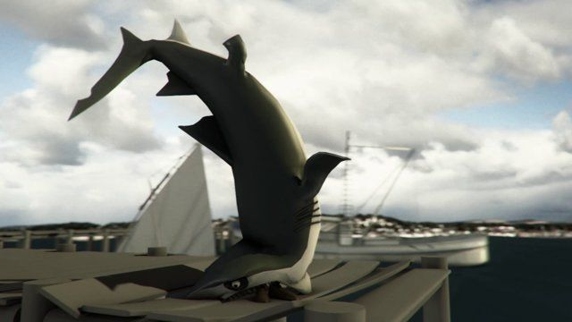 Body mechanics assignment at Onfire Animation School, hope you like it!!!     Shark Rig ( http://www.creativecrash.com/maya/downloads/character-rigs/c/shark-rig )  Audio design: Erick de Oliveira ( catapultastudio@gmail.com )