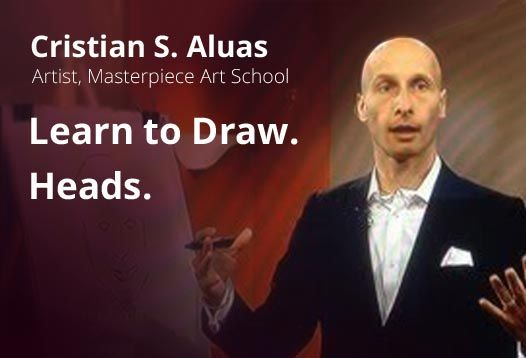 """Micro-course """"Learn to Draw. Heads"""" by Cristian Aluas https://coursmos.com/course/learn-to-draw-heads #Art & Photography @coursmos"""