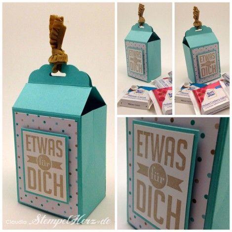 Stampin Up - Stempelherz - Verpackung - Stanze Gewellter Anhänger - Frisch & farbenfroh - Tüte Etwas für Dich Collage b