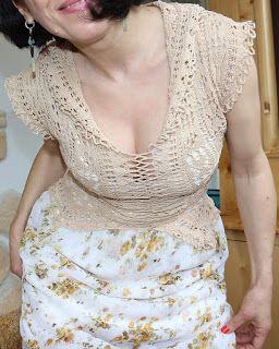 uncinetto moda e fantasia: vestito in cotone e voal creponato......
