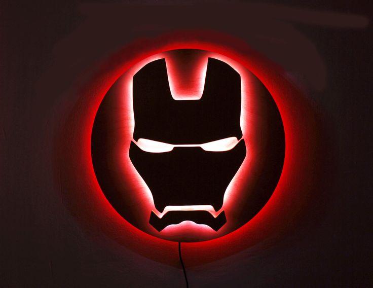 Iron Man Night Lights Avengers Superhero Sign Marvel Led Etsy Marvel Room Marvel Lights Superhero Signs