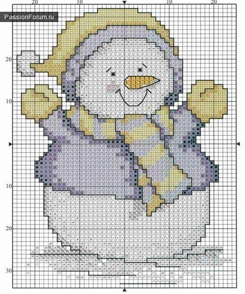 SNOWMEN / Schemes cross stitch / PassionForum - master classes in needlework