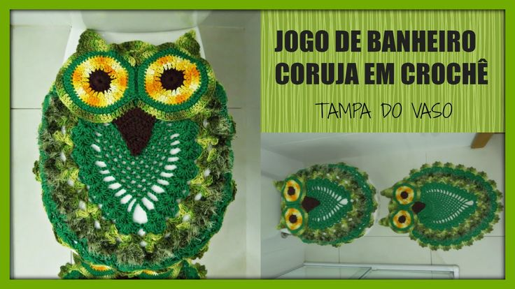 JOGO DE BANHEIRO CORUJA-TAMPA DO VASO