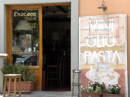 Enoteca Baldi Panzano's wine bar