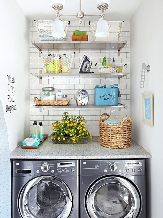 Delightful Amazing Smaller Laundry Room. So Much Character In One Small Space.  Efficient Too! Idea