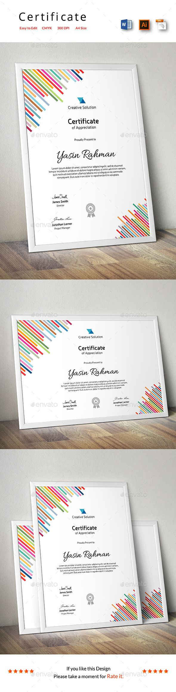Certificate Template Vector EPS, AI. Download here: http://graphicriver.net/item/certificate/13759995?ref=ksioks