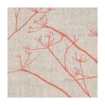 Chervil Coral - by Ada Ina  www.linenfabrics.co.uk