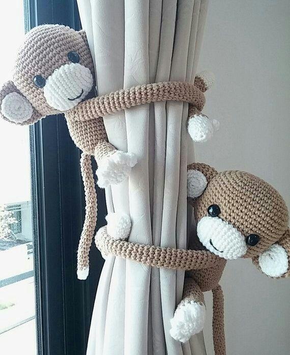 Monitos sujeta cortinas