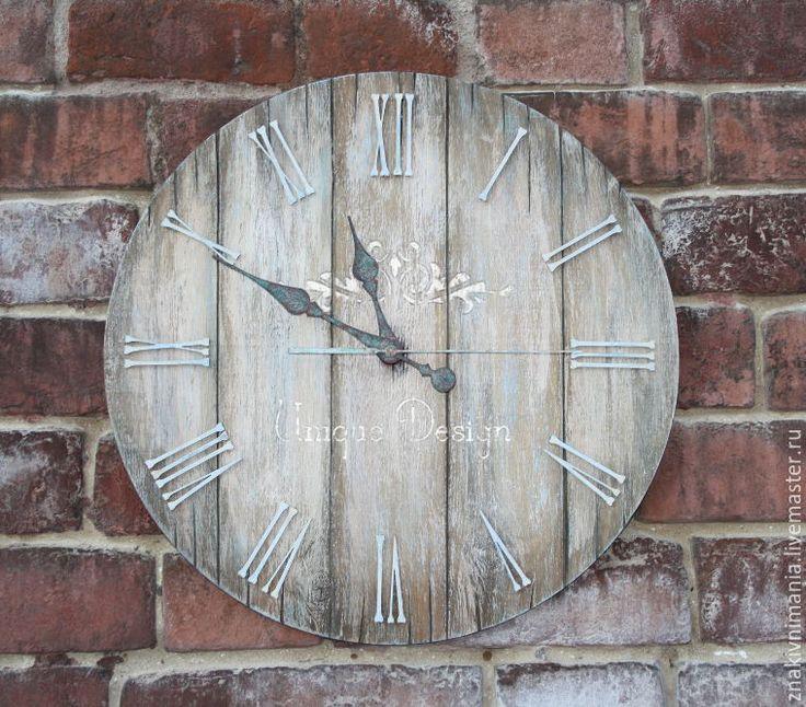 """Купить Большие настенные интерьерные часы """"Сквозь время"""" - коричневый, часы, часы настенные"""