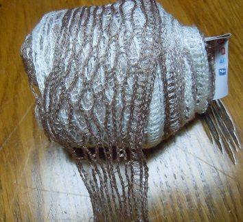 unwind a ball of sashay yarn, makes working with the Sashay a lot easier.