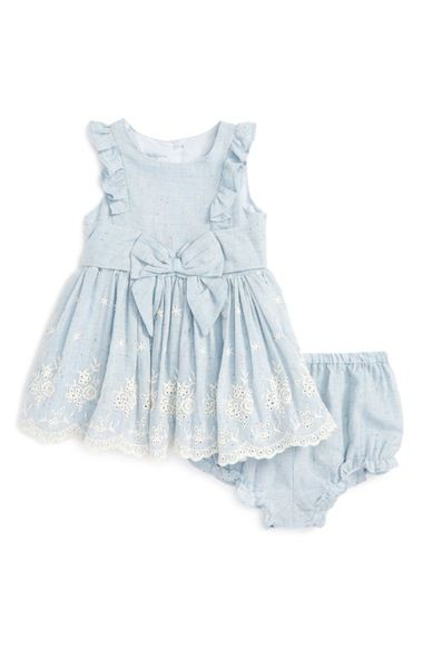 Pippa & Julie Ruffle Chambray Dress (Baby Girls) available at #Nordstrom