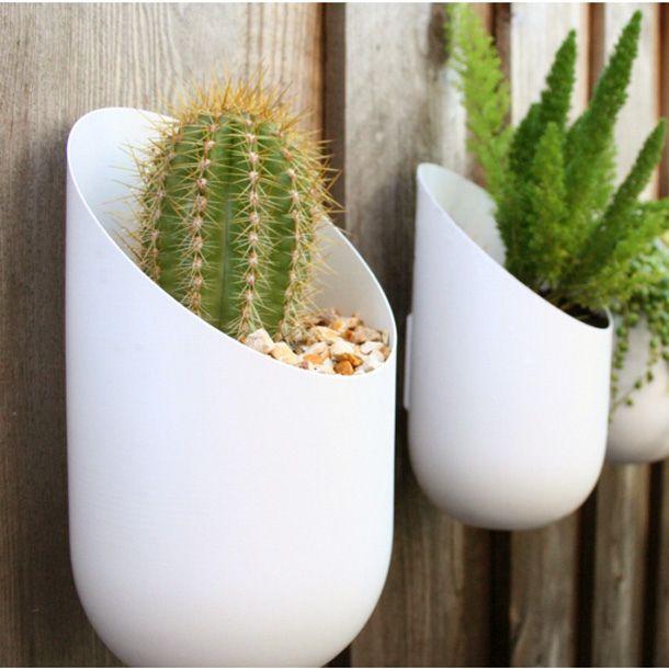 Modern Outdoor Wallter Wall Planter. Love it!