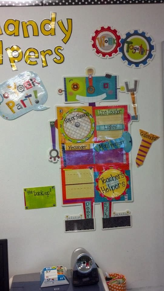 "Creative Teaching Press Riveting Robots job chart - ""handy helpers"" @The Creative Team Teaching Press"