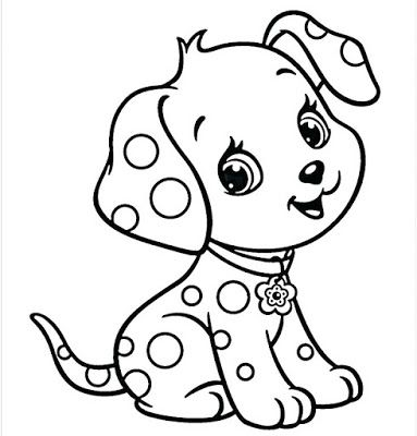 Coloring Pictures Of Cute Dogs Easily Puppy Coloring Pages Cute Dog Drawing Dog Coloring Page