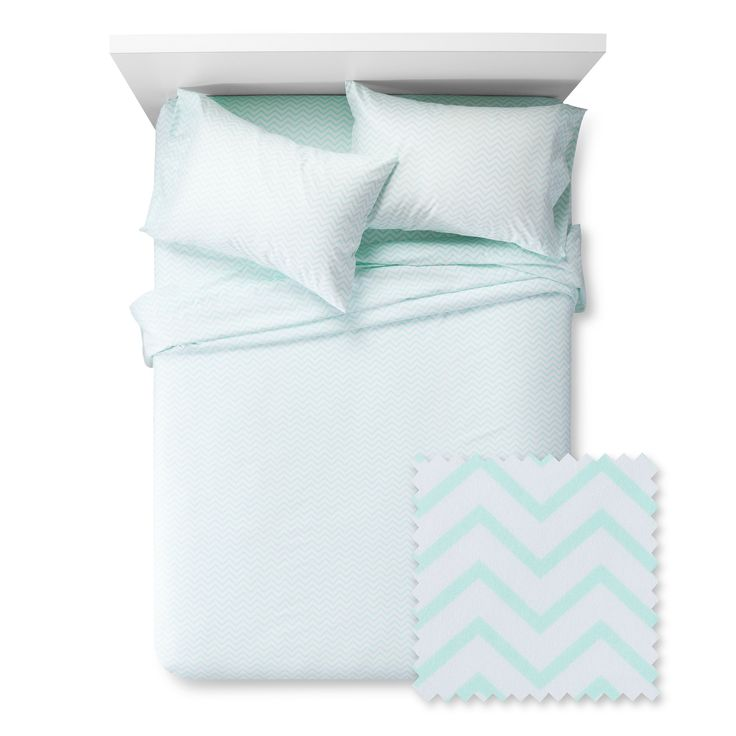 Chevron Sheet Set - Pillowfort, Crystalized Green